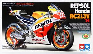 TAMIYA 14130  2014 Repsol Honda RC213V Racing Motorcycle Plastic Model Kit 1/12
