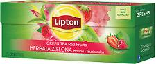 Lipton Green Tea Red Fruits Strawberry & Raspberry Flavor 25 Teabags
