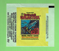 #D291.   1979   SCANLENS   BATTLESTAR GALACTICA  WAX WRAPPER