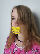 Adult Pacifier Soother Dummy from the dotty diaper company Yellow