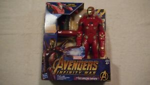 """Iron Man Marvel Avengers: Infinity War- Mission Tech Iron Man 14"""" with Sound New"""
