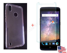 Soft Tpu Case Cover + 9H Tempered Glass For Zte Gabb Z2 Wireless Cell Phone Read