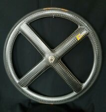 Corima Carbon Rear Wheel 4 Spoke Campagnolo 11S Tubular TT Time Trial Disc Bag