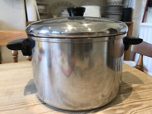 Large Double-handle Stainless Steel Cooking Pot
