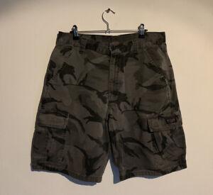 Military Camo Shorts Wrangler Camouflage Army Shorts Size 33