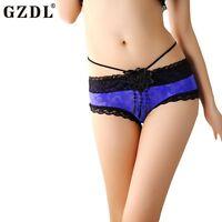 Sexy Women Vintage Underwear Boxer Lace Floral Panties Briefs Lingerie Boyshorts