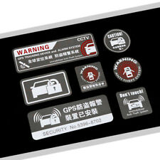 2 PCs Anti Theft System Ho Vinyl Car Stickers Warning Window Outside Decal Alarm