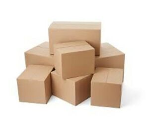 Lot of 5 boxes cardboard boxes 35x35x20cm double wall shipping carton