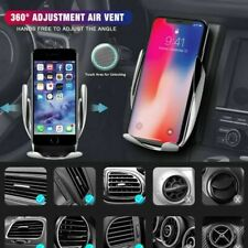 Rotation Automatic Clamping QI Wireless Car Mount Charger For iPhone 8/XS/11 Pro