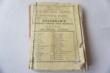 More details for 1911 bradshaws cities towns plans of continental europe - railway guide maps