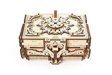 3D mechanical wood puzzle - Antique Box - treasure/jewelry box kit to build