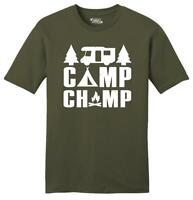 Mens Camp Champ Soft Tee Camping Hiking Outdoors Summer