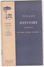 TITE-LIVE HISTOIRE Extraits Seconde guerre punique I  Cart Grimal Lamaison...