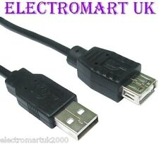USB 2.0 A MALE PLUG TO A FEMALE SOCKET EXTENSION CABLE LEAD 3M
