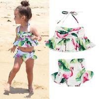 Newborn Kids Baby Girls Flamingo Swimwear Swimsuit Bikini Bathing Suit Beachwear