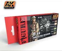 AK INTERACTIVE 3020 M44 Camouflage Uniform Acrylic Paint Set 6 Colors FREE SHIP