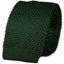 New Luxury Mens Racing Green Plain Woven Tie Necktie Solid Knitted Skinny