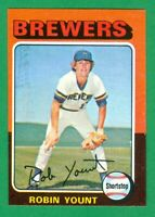 1975 TOPPS MINI #223 ROBIN YOUNT RC NM/MT o/c  MILWAUKEE BREWERS  HOF  3000 HITS