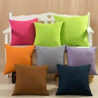 Pillow Case Cotton linen Cushion Cover Decorative Square Home Throw Sofa Yc