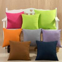 Pillow Case Cotton linen Cushion Cover Decorative Square Home Throw Sofa Y1