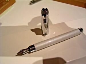 ***START USD 99!*** FABER CASTELL BENTLEY  pen, white satin
