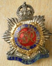 Badge- Royal Army Service Corps LAPEL Badge RASC Badge GVI (Org*) maker JR GAUNT
