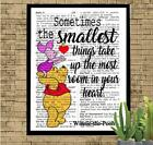 Winnie The Pooh Love Quote Dictionary Art Print Unique Gift Pooh & Piglet