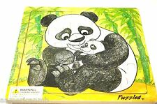 "PANDA 20 pc Jigsaw Wood Puzzle 8""x8"" Educational Toy Wooden Woodcrafted Game"