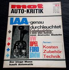 MOT 21/67 Karmann-Cabriolets,Glas 1304+1700, NSU 1200 TT, Weg zum Kunststoffauto
