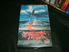 VHS *NIGHT TRAIN TO TERROR - aka SHIVER* Mega Rare 1985 ShowCase 1st Issu HORROR