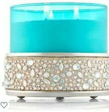 Bath & Body Works Short Glittering Gems Candle Holder - Silver NEW