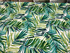 Coastal Palm Green Leaves Indoor Outdoor Fabric By the yard