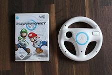 Nintendo Wii Spiel Mario Kart + Original Lenkrad weiß