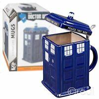 "Doctor Who Tardis 9"" Stein 50oz w/ Metal Hinge New Mug Tea Coffee Beer Ceramic"