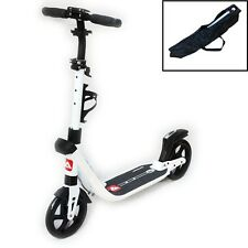 Deluxe Scooter Archquick Push Scooter Commuter Big Wheel White Adults Kids Gift