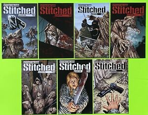 Stitched #1 2 3 4 5 6 7 RARE Set Garth Ennis & Mike Wolfer Avatar 2011 NM