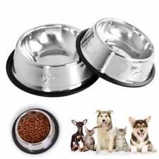 1x Useful Dog Bowl Stainless Steel Pet Bowl Anti Slip Dog Cat Puppy Food Holder