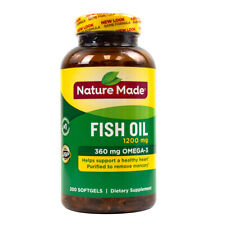 Nature Made Fish Oil 360 mg - 200 Softgels FRESH, FREE SHIPPING, MADE IN USA