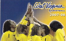 2007-08 WEST VIRGINIA UNIVERSITY WOMENS BASKETBALL MOUNTAINEERS POCKET SCHEDULE
