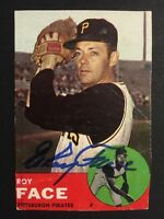 Roy Face Pirates Signed 1963 Topps Baseball Card #409 Auto Autograph Trimmed