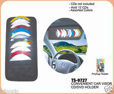 12 Disk Auto Car Accessories Sun Visor CD DVD Card Black Case Holder Lot of 2