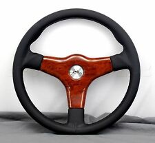Luisi Steering Wheel - 355mm - Giba 3 Prestige - Black Leather Made in Italy