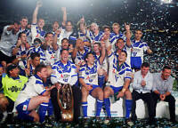OLD LARGE PHOTO Canterbury Bulldogs 2004 Premiership win, the team celebrate