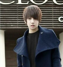 Handsome boys wig New Korean short Dark brown men's false hair Cosplay wigs 01NS