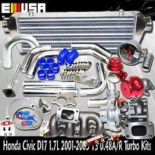 T3 Turbo Kits for Honda Civic 2002-2004 LX GX EX Seda 4D 1.7L D17 I4  SOHC ONLY