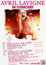 AVRIL LAVIGNE - 2008 TOUR FLYER - RARE GENUINE LIVE MUSIC CONCERT PROMO