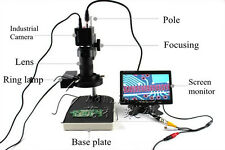 "ELectronic Repairing Video Microscope Industrial Camera w/ 7"" Screen Monitor"
