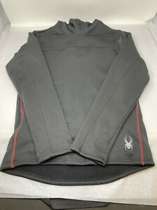 Spyder Pullover Hoodie Black with Red MEN'S SIZE MEDIUM New Without Tags