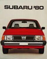 1980 Subaru Car Sales Brochure Dealership Advertisement Catalog