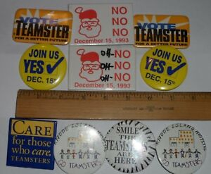 MOSTLY TEAMSTERS BUTTONS LOT